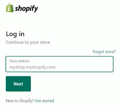 Login to Shopify