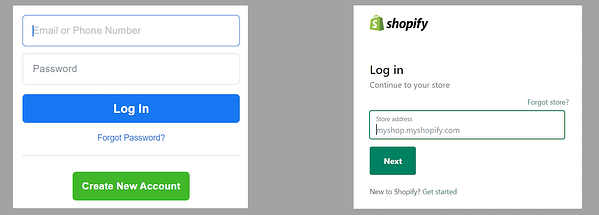 Login to Both Facebook and Shopify