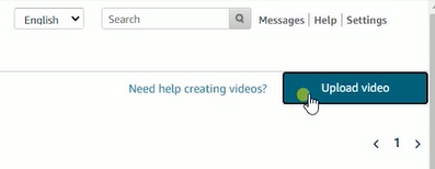 2 click the Upload Video button