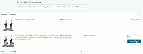 3 Specify the conditionof your item that you're selling and click theSell This Productbutton
