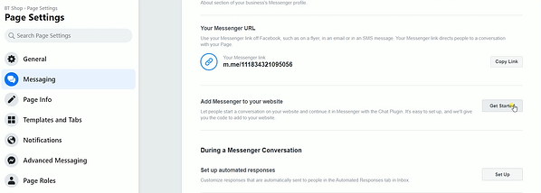 Access the Messaging Settings