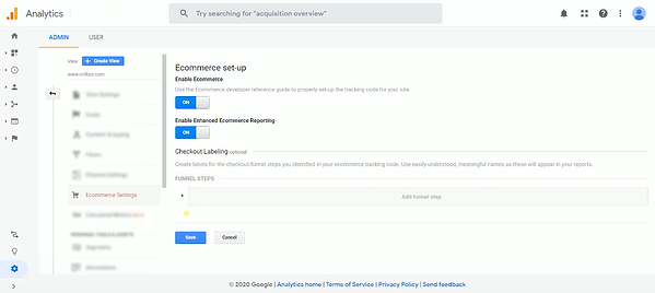 Enable Enhanced Ecommerce google analytics