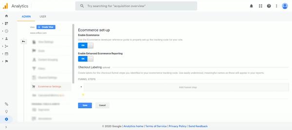 Enable Enhanced Ecommerce google analytics
